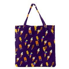 Seamless Cartoon Ice Cream And Lolly Pop Tilable Design Grocery Tote Bag