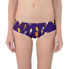 Seamless Cartoon Ice Cream And Lolly Pop Tilable Design Classic Bikini Bottoms