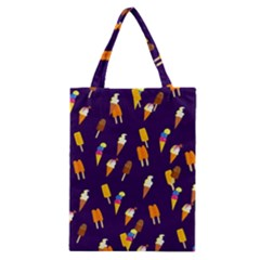 Seamless Cartoon Ice Cream And Lolly Pop Tilable Design Classic Tote Bag