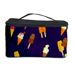 Seamless Cartoon Ice Cream And Lolly Pop Tilable Design Cosmetic Storage Case
