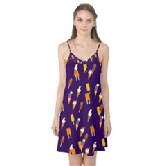 Seamless Cartoon Ice Cream And Lolly Pop Tilable Design Camis Nightgown