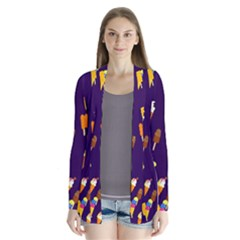 Seamless Cartoon Ice Cream And Lolly Pop Tilable Design Cardigans