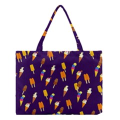 Seamless Cartoon Ice Cream And Lolly Pop Tilable Design Medium Tote Bag