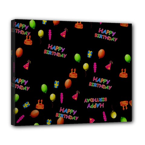 Cartoon Birthday Tilable Design Deluxe Canvas 24  x 20