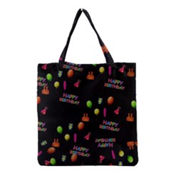 Cartoon Birthday Tilable Design Grocery Tote Bag