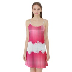 Digitally Designed Pink Stripe Background With Flowers And White Copyspace Satin Night Slip