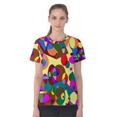 Abstract Digital Circle Computer Graphic Women s Cotton Tee