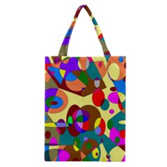 Abstract Digital Circle Computer Graphic Classic Tote Bag