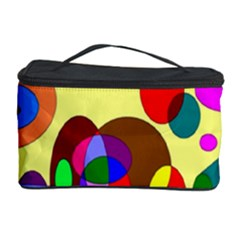 Abstract Digital Circle Computer Graphic Cosmetic Storage Case
