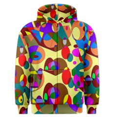 Abstract Digital Circle Computer Graphic Men s Zipper Hoodie