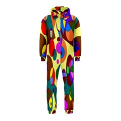 Abstract Digital Circle Computer Graphic Hooded Jumpsuit (kids)