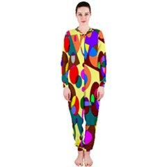 Abstract Digital Circle Computer Graphic Onepiece Jumpsuit (ladies)