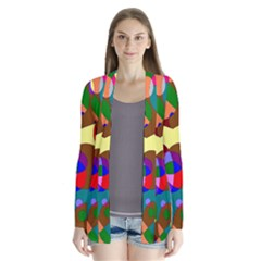 Abstract Digital Circle Computer Graphic Cardigans