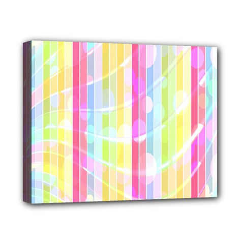 Abstract Stipes Colorful Background Circles And Waves Wallpaper Canvas 10  x 8