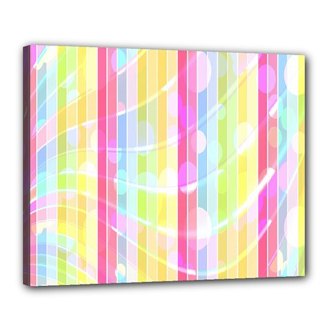 Abstract Stipes Colorful Background Circles And Waves Wallpaper Canvas 20  X 16