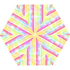 Abstract Stipes Colorful Background Circles And Waves Wallpaper Mini Folding Umbrellas