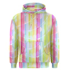 Abstract Stipes Colorful Background Circles And Waves Wallpaper Men s Pullover Hoodie