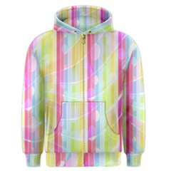 Abstract Stipes Colorful Background Circles And Waves Wallpaper Men s Zipper Hoodie