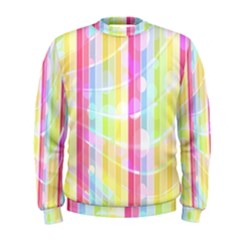 Abstract Stipes Colorful Background Circles And Waves Wallpaper Men s Sweatshirt