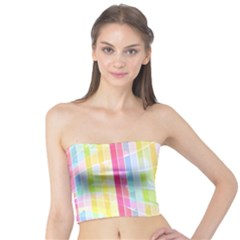 Abstract Stipes Colorful Background Circles And Waves Wallpaper Tube Top