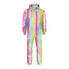 Abstract Stipes Colorful Background Circles And Waves Wallpaper Hooded Jumpsuit (kids)