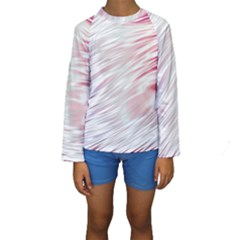 Fluorescent Flames Background With Special Light Effects Kids  Long Sleeve Swimwear