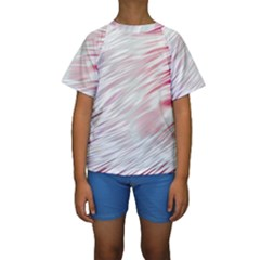 Fluorescent Flames Background With Special Light Effects Kids  Short Sleeve Swimwear