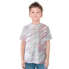 Fluorescent Flames Background With Special Light Effects Kids  Cotton Tee