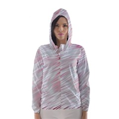 Fluorescent Flames Background With Special Light Effects Hooded Wind Breaker (women)