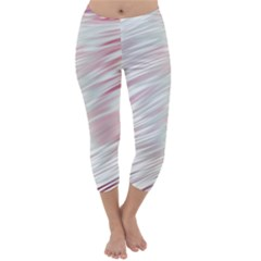Fluorescent Flames Background With Special Light Effects Capri Winter Leggings