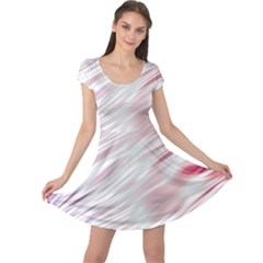 Fluorescent Flames Background With Special Light Effects Cap Sleeve Dresses