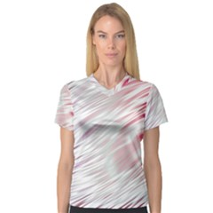 Fluorescent Flames Background With Special Light Effects Women s V-Neck Sport Mesh Tee