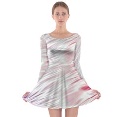 Fluorescent Flames Background With Special Light Effects Long Sleeve Skater Dress