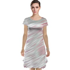 Fluorescent Flames Background With Special Light Effects Cap Sleeve Nightdress