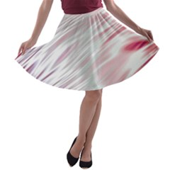 Fluorescent Flames Background With Special Light Effects A-line Skater Skirt