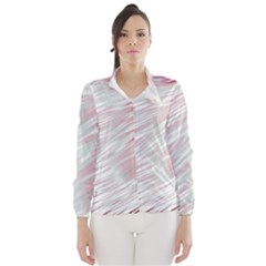 Fluorescent Flames Background With Special Light Effects Wind Breaker (Women)
