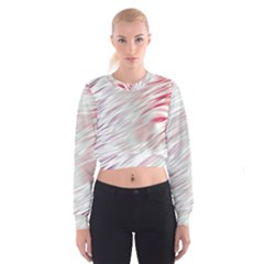 Fluorescent Flames Background With Special Light Effects Cropped Sweatshirt