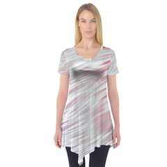 Fluorescent Flames Background With Special Light Effects Short Sleeve Tunic