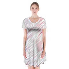 Fluorescent Flames Background With Special Light Effects Short Sleeve V-neck Flare Dress