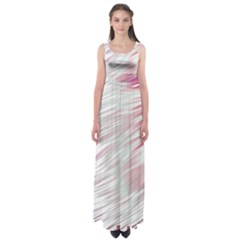 Fluorescent Flames Background With Special Light Effects Empire Waist Maxi Dress