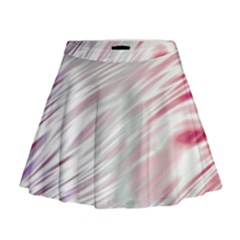 Fluorescent Flames Background With Special Light Effects Mini Flare Skirt