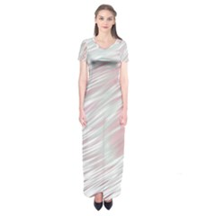 Fluorescent Flames Background With Special Light Effects Short Sleeve Maxi Dress
