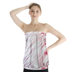Fluorescent Flames Background With Special Light Effects Strapless Top