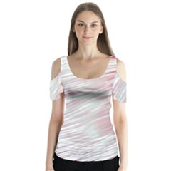 Fluorescent Flames Background With Special Light Effects Butterfly Sleeve Cutout Tee