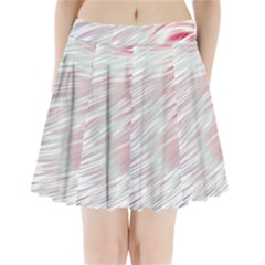 Fluorescent Flames Background With Special Light Effects Pleated Mini Skirt