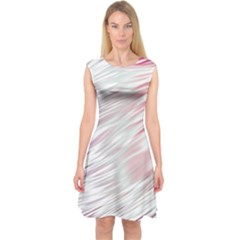 Fluorescent Flames Background With Special Light Effects Capsleeve Midi Dress