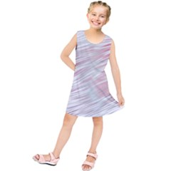 Fluorescent Flames Background With Special Light Effects Kids  Tunic Dress