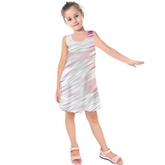 Fluorescent Flames Background With Special Light Effects Kids  Sleeveless Dress