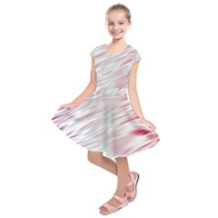 Fluorescent Flames Background With Special Light Effects Kids  Short Sleeve Dress
