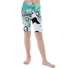 Small And Big Bubbles Kids  Mid Length Swim Shorts